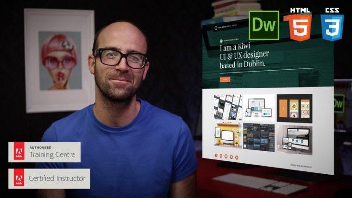 Responsive Design HTML CSS Web design - Dreamweaver CC Course For Free | Learn HTML5 & CSS3 web design skills. Build beautiful responsive design websites