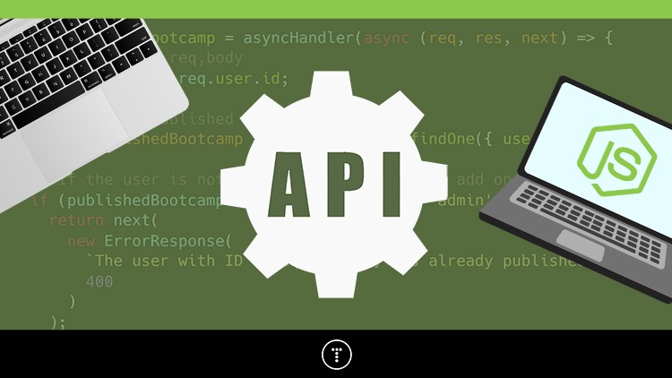 Node.js API Masterclass With Express & MongoDB Course Site Create a real-world backend for a Bootcamp directory app