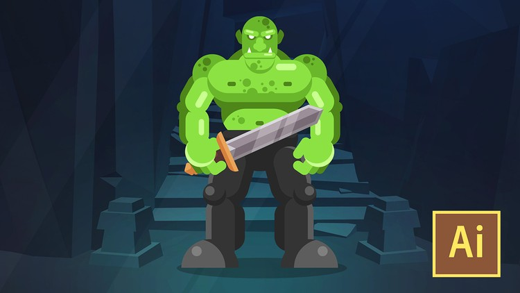 Learn Illustrator CC: Create a Simple Flat Vector Orc Course Catalog Start learning Adobe Illustrator CC by creating a Flat Orc Character in this quick and easy course.
