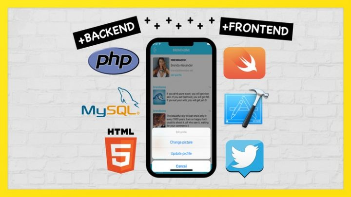 Full PHP & Swift. Create iOS Social App on Custom Backend Course For Free Learn to Create iOS Social App on Swift, Xcode & PHP, MySQL, HTML on Custom backend. Learn multi-languages at one time