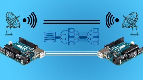 Arduino Long Distance Communication - Course For Free Start Sending Data Over Long Distance using Arduino via Wired and Wireless Connection and extend Arduino Capabilities