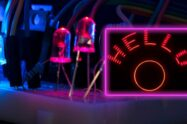 Arduino Rotating LED Display That Prints Text on Air POV Make an Arduino eye-catching Rotating LED Display That Shows Infinite Words in a Small Space | POV | Propeller Display